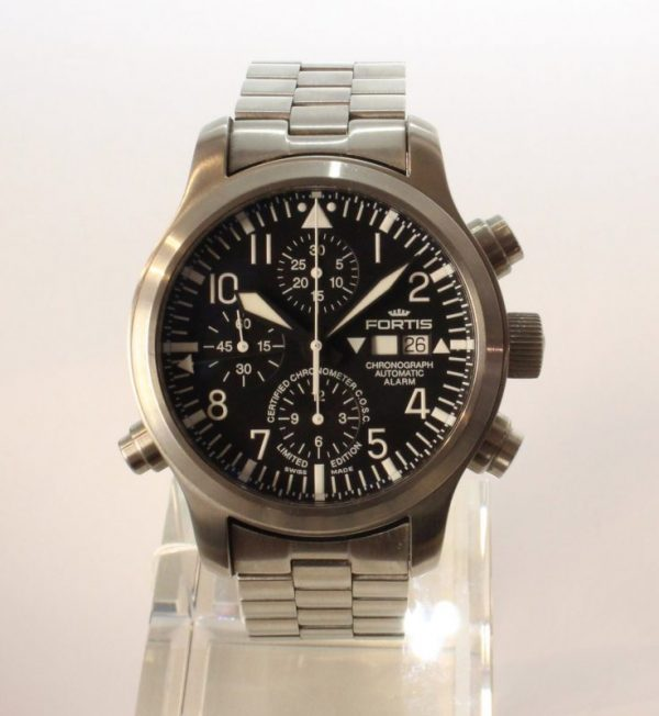 IMG 8751 - Fortis B-42 Flieger Alarm Chronograph Limited Edition COSC