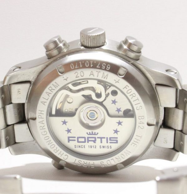 IMG 8766 - Fortis B-42 Flieger Alarm Chronograph Limited Edition COSC