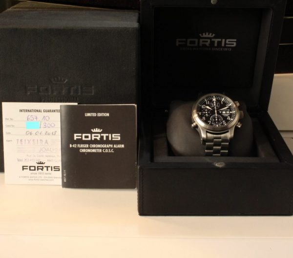 IMG 8768 - Fortis B-42 Flieger Alarm Chronograph Limited Edition COSC