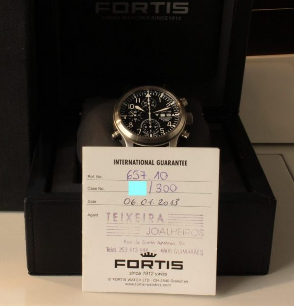 IMG 8769 - Fortis B-42 Flieger Alarm Chronograph Limited Edition COSC
