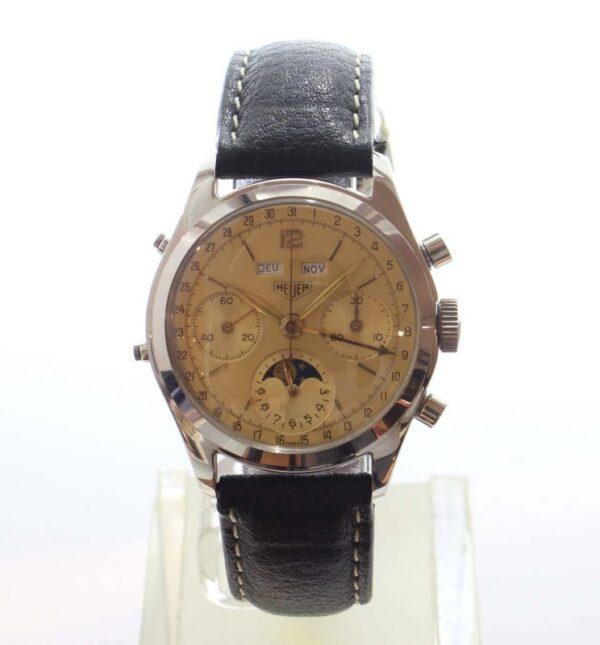 IMG 3692 600x645 - Dato-Compax triple calendar moonphase Chronograph